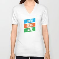 greg guillemin V-neck T-shirts featuring Greg Davis Park by Parks of Seattle