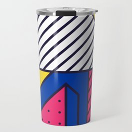 Festive Background in Neo Memphis Style Colorful Decorative pattern Travel Mug