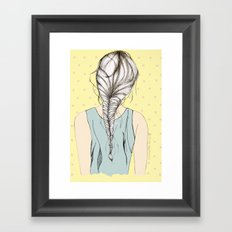 Hair braid Framed Art Print