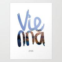 vienna Art Prints featuring Vienna by Mapa Barragan