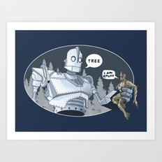 The Giant & Groot Art Print