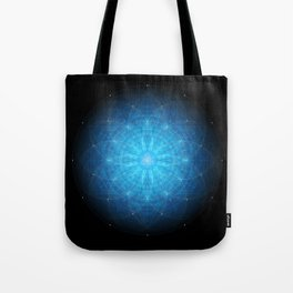 crystal mind. sacred geometry mandala Tote Bag