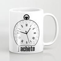 watch Mugs featuring Watch by antonio&marko