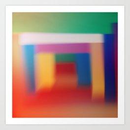 Colored blur background 3 Art Print
