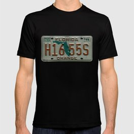 Orange County Florida Tag Automotive Car License Plate T-shirt