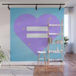 Tic Tac Heart Wall Mural