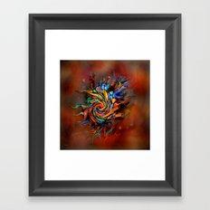 Abstract wash Framed Art Print