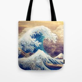 The Great Wave off Kanagawa Tote Bag