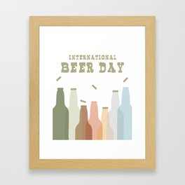 International Beer Day - Cheers for the World Framed Art Print