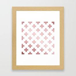 Simply Plus in Rose Gold Sunset Framed Art Print