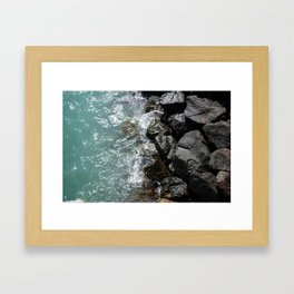 Kuwait's Shoreline Framed Art Print