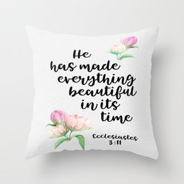 Beautiful in Time Throw Pillow
