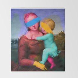 Raphael Classical Painting Remix Pop Art Throw Blanket