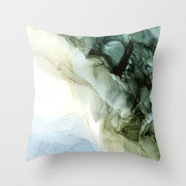 Land and Sky Abstract Landscape Painting Throw Pillow