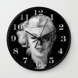 Dead Celebrities Series Half Skull Wall Clock