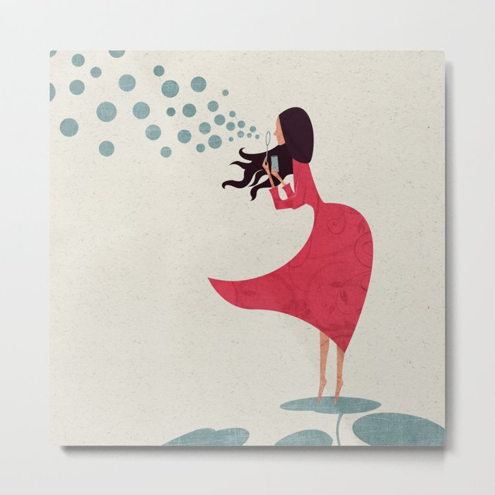 I'm bubbling. That state of absolute happiness when you are ready to fly. Metal Print