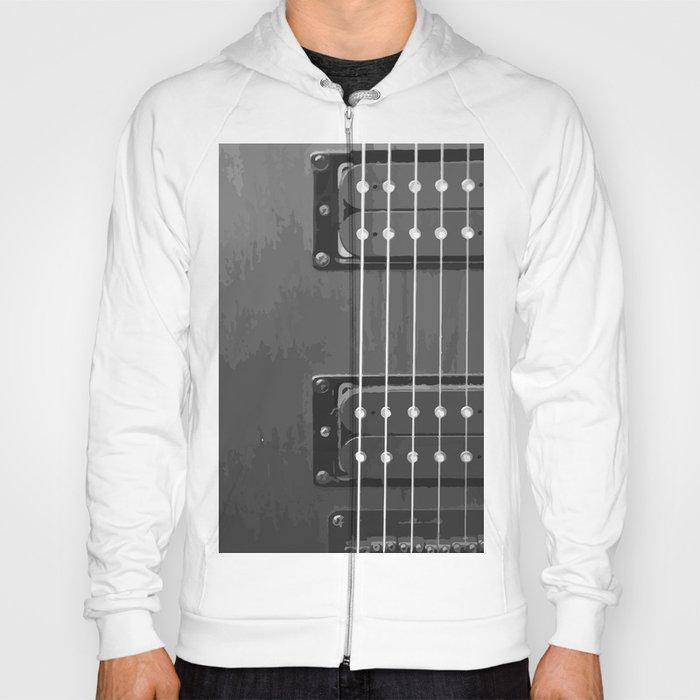 Black and White Guitar Hoody
