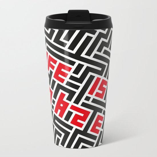 Maze Metal Travel Mug