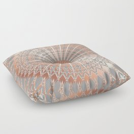 Rose Gold Gray Mandala Floor Pillow