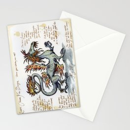 Lesser Chinese Fire Dragon Stationery Cards