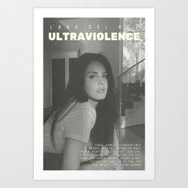 Lana De-l Rey - Ultraviolence alternative album poster Art Print