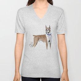 Boxer Dog Unisex V-Neck