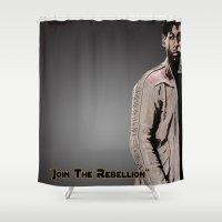 finn Shower Curtains featuring Finn by KL Design Solutions