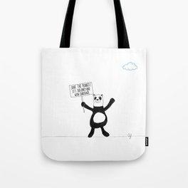 Panda Chocolate Tote Bag