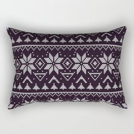 Knitted Christmas pattern in retro style 5 Rectangular Pillow