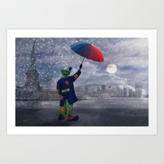 Good morning America . . . how are you Art Print