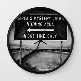 Marfa Mystery Lights, Texas Wall Clock