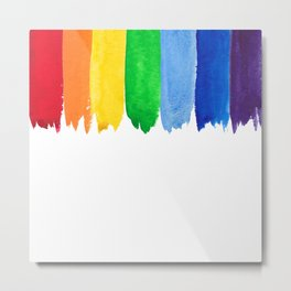 Watercolor rainbow background Metal Print