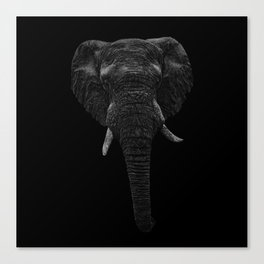 Elephant. Scribble art. Reverse Canvas Print