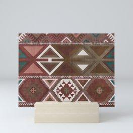 Aztec Artisan Tribal in Sienna Mini Art Print