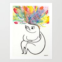 rubyetc Art Prints featuring inside and out by rubyetc