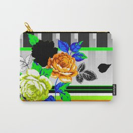 Chintz Rose Orange & Green Carry-All Pouch