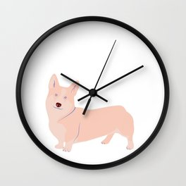 Corgi - Pet game e1 Wall Clock
