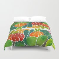 succulents Duvet Covers featuring Succulents by Cat Coquillette