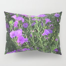 Field of Pink-Lilac Happy Flowers Pillow Sham