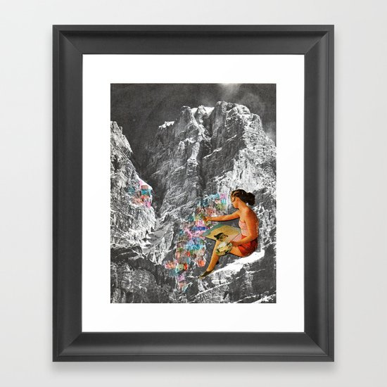 Painting Mountains Framed Art Print