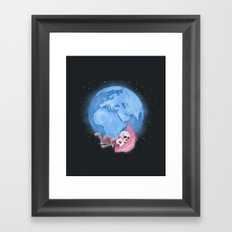 Lost in a Space / Homeckly Framed Art Print