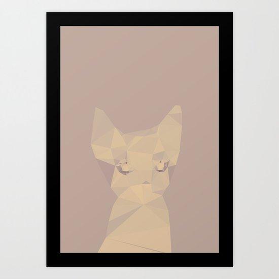 Cut fragments Cat Art Print