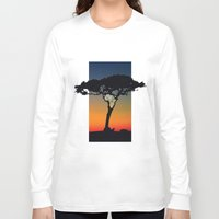 africa Long Sleeve T-shirts featuring Africa by Trevor Seymour