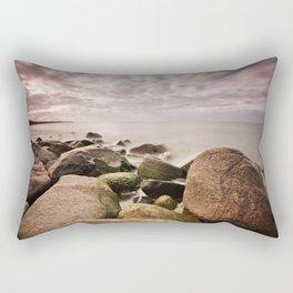 Stones on the Baltic Sea coast Rectangular Pillow
