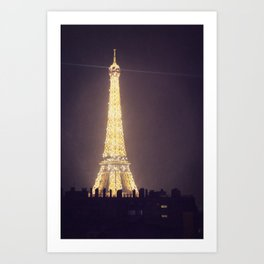 Paris Glow Art Print