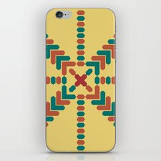 X Marks the Center iPhone & iPod Skin