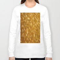 gold glitter Long Sleeve T-shirts featuring Gold Glitter 1324 by Cecilie Karoline
