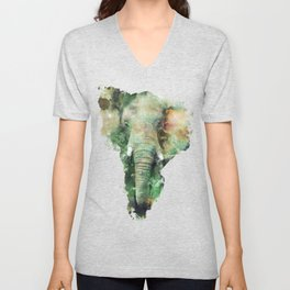 Watercolor Elephant Unisex V-Neck