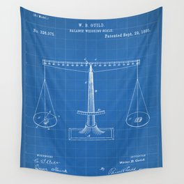 Lawyer Patent - Paralegal Art - Blueprint Wall Tapestry