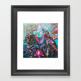 She Buds, She Blooms Framed Art Print